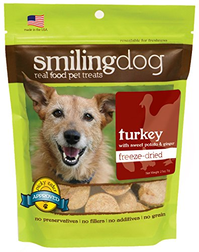 Ginger Jam Recipe - Herbsmith Smiling Dog Treats - Freeze Dried Raw Turkey, Sweet Potato, & Ginger - That's 100% it - Gluten + Grain Free - Made in USA - 2.5 Ounce