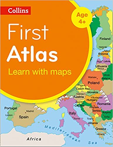 First Accurate Map Of The World.Collins First Atlas Collins Primary Atlases Amazon Co Uk Collins