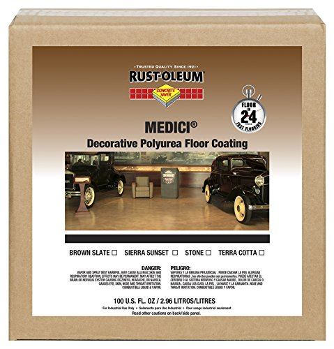 Rust-Oleum 280950 Stone Concrete Saver Medici Decorative Floor Coating, 1 gal Can Rust Oleum Stone Finish