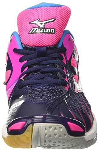Peacoat White WOS Pinkglo Mizuno Tornado X Damen Mehrfarbig Wave Volleyballschuhe 77F0cUn