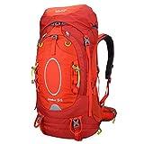 Bolang Women's 55 Liter Outdoor Hiking Camping Travel Bag Climbing Internal Frame Backpacks Red 8145