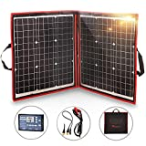 DOKIO 80W Solar Panel Kit 12V / 18V Flexible Foldable Mono Solar Panel Portable USB Kit Solar Panel