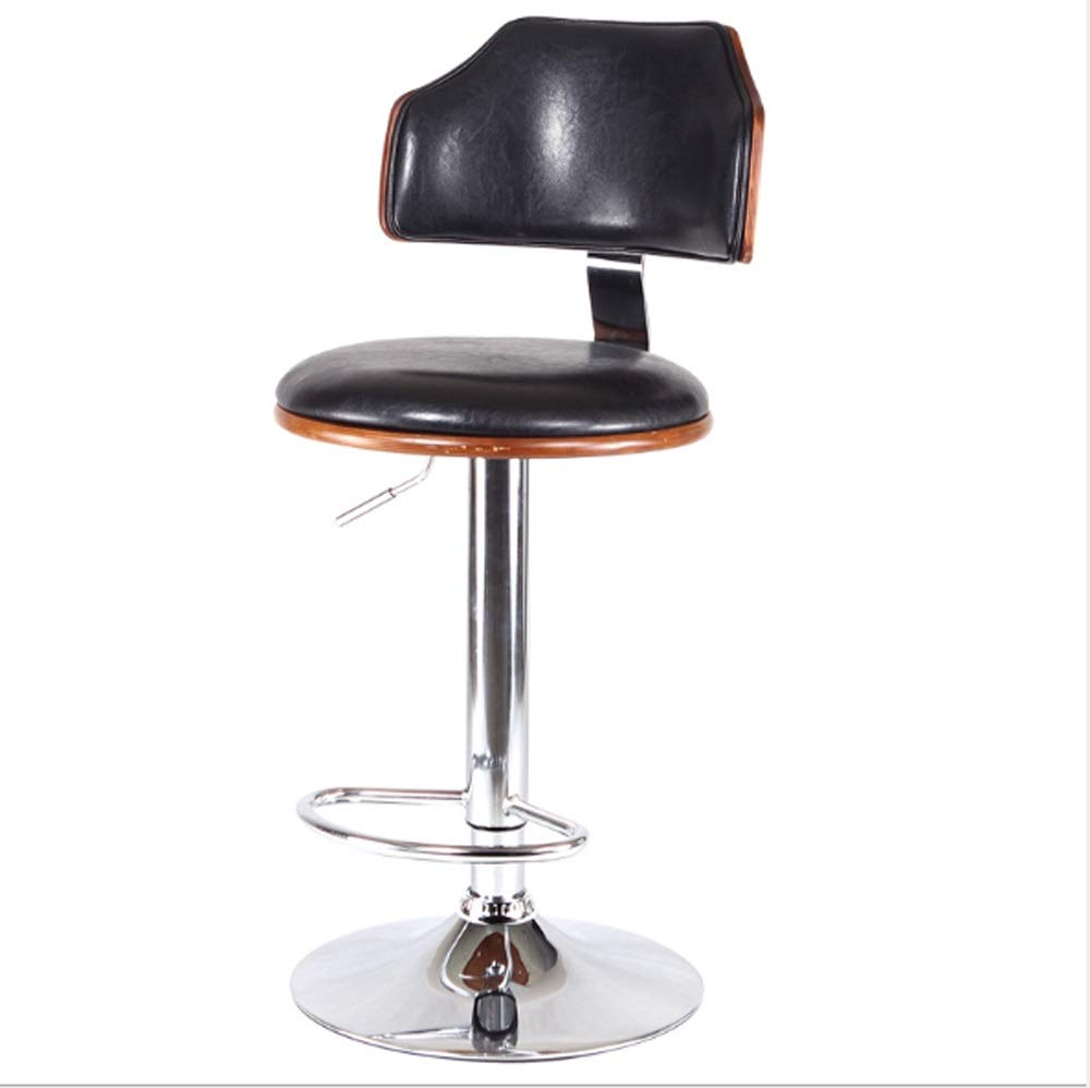 AO-stools Bar Chair Bar Stool Stylish American Solid Wood Bar Chair Lift 60x40x17cm