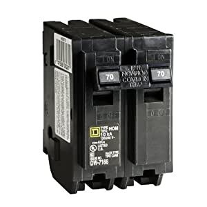 Your One Source HOM270CP 70a 2p Plug-On Circuit Breaker by Your One Source