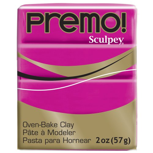 (Premo Sculpey Polymer Clay 2 Ounces-Fuchsia)