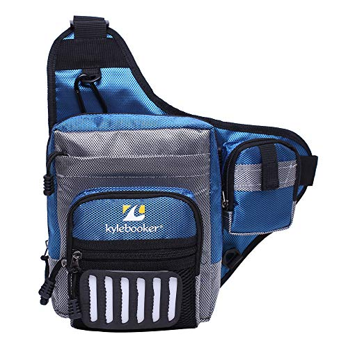 Kylebooker Fishing Tackle Storage Bags Shoulder Pack (Blue)
