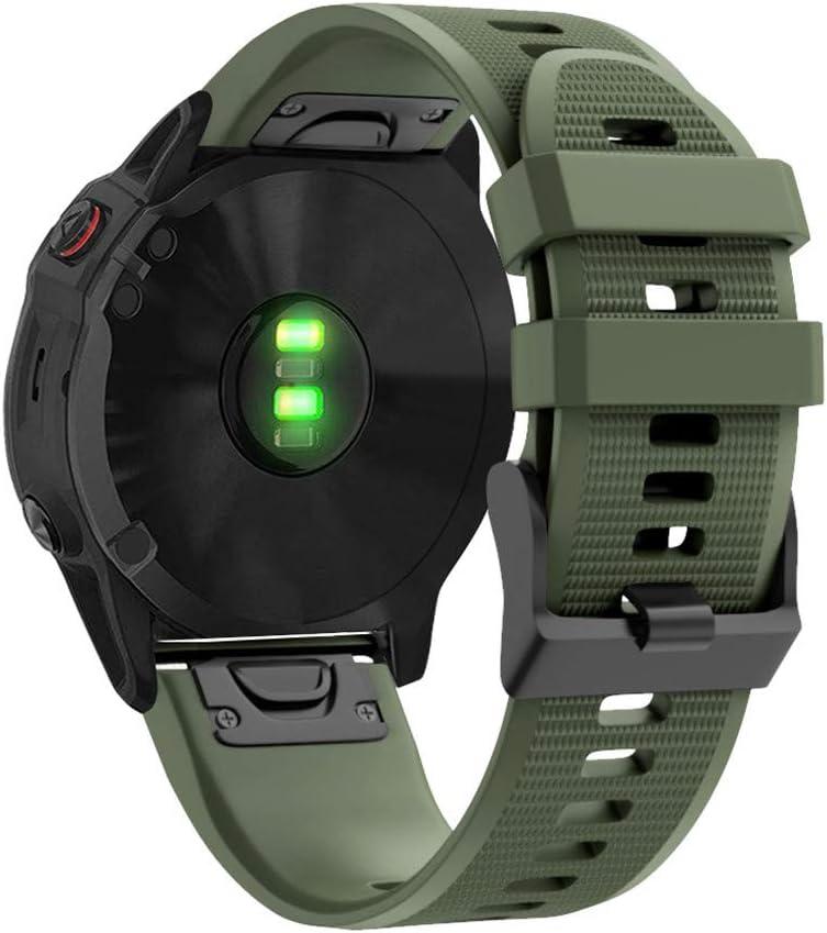 BJJH - Pulsera para Garmin Fenix 6X/Fenix 6X Pro/Fenix 5X/Fenix 5X Plus/Fenix 3/Fenix 3 HR, 26 mm de ancho de silicona Quick-Fit reloj de pulsera, para hombre y mujer