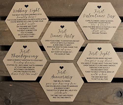 Gift Basket For Bride And Groom Wedding Night: Amazon.com: Bridal Shower Wine Labels