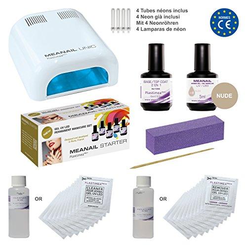 Meanail Starter - UV GEL Set - UV Nagellampe 36 Watt und Gel Nagellack für Maniküre und Pediküre wie im Nagelstudio - Professionelle UV-Nageltrockner