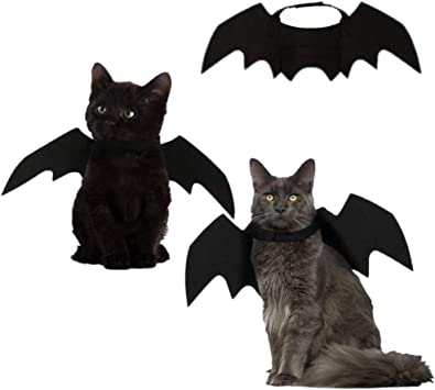SUNREEK Disfraz de Halloween con alas de murciélago, Gato, Perro ...