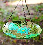 Garden Flowers Hanging Glass Dish S/2 11.25X11.25X17