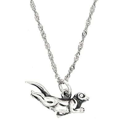 Amazon sterling silver oxidized three dimensional swimming sea amazon sterling silver oxidized three dimensional swimming sea otter charm with thin singapore necklace 16 inches pendants jewelry aloadofball Image collections