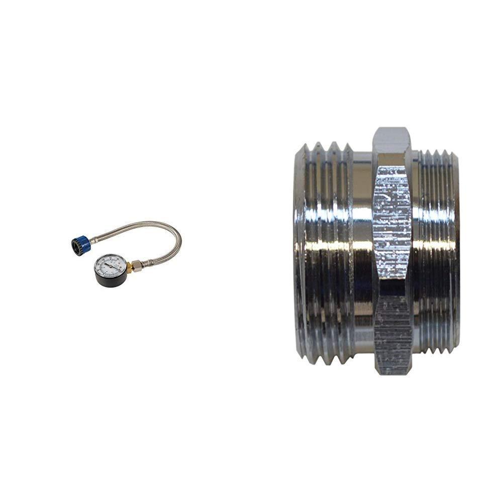 Gold /& sanicomfort Reduzierst/ück Messing M24 x 1 x 19,1 mm Silverline 482913 Wasserdruckmesser mit Edelstahlschlauch 0 3//4 zoll 11 bar 1866745