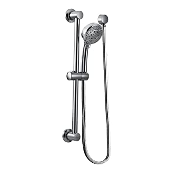Moen Handheld Showerhead With 69 Inch Long Hose Featuring 30 Inch Slide Bar