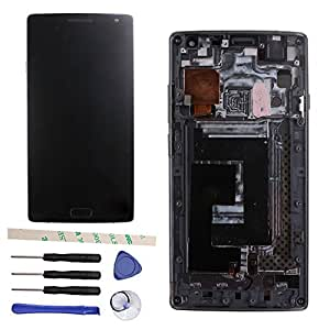 LCD Display Touch Screen Digitizer Assembly For Oneplus 2 Two 1+2 A2001 A2003 A2005 (black w/ frame)