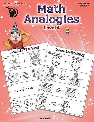 Math Analogies Level 4 (Grades 8-9)