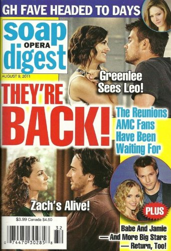 Josh Duhamel, Rebecca Budig, All My Children, Kim Zimmer, Character Exits That Fizzled - August 9, 2011 Soap Opera Digest Magazine