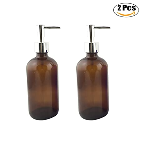 Kapmore 2 Piezas Jabón Bomba Dispensador Loción Botella Vaso Jabón Líquido Dispensador Recargable Vaso Botella para