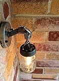 THE JAR OF LIGHT - Pint Ball Mason Jar wall sconce light with galvanized conduit and chain   MillerLights Original.
