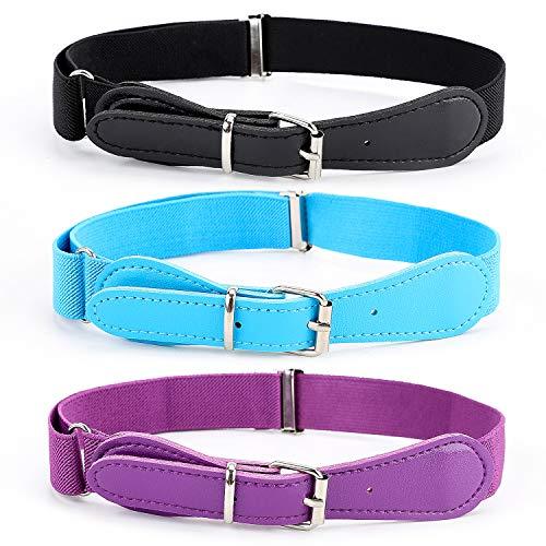Elastic Adjustable Belts Toddler (BiBest Kids Adjustable Elastic Belts for Toddler, Pack of 3 Stretch Belts for Boys and Girls)