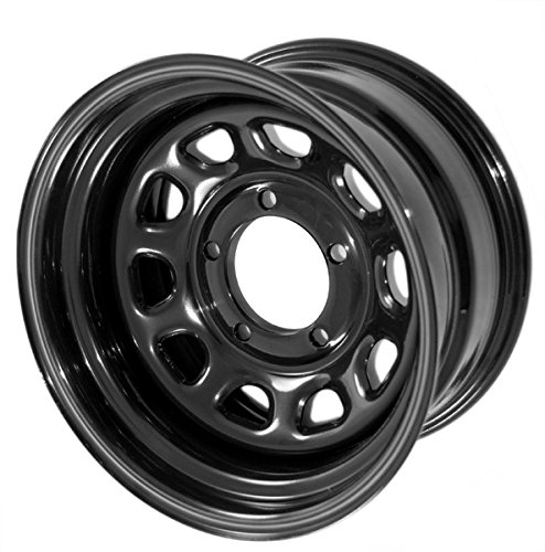 ese black D-window steel wheels from Outland Automotive measure 15x8 inches with a 5x4.5 inch bolt pattern and 3.75 inch backspacing. Wheel D Window Wheel 15x8 Black 5x4.5 ()