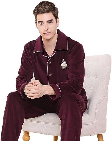 Pijamas pijamas para hombres gruesos cálidos para jóvenes ...