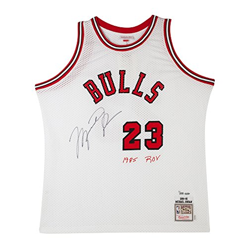 Michael Jordan Signed & Embroidered Chicago Bulls Mitchell & Ness Rookie Jersey, UDA