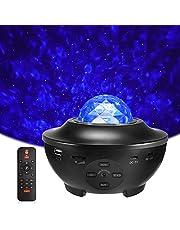 LED Sterlicht Projector, Delicacy Roterende Nevel Lamp, Oceaangolf Nachtlichten, Kleur Veranderende Muziekspeler met Bluetooth/Timer/Afstandsbediening, Kinderen Volwassenen Kamer Woondecoratie