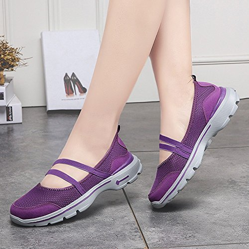 ,Farjing Casual Sale Flats Shoes Clearance For Shoes Womens Purple Mesh Sneakers Women Breathable Fashion Running Shoes Sneakers qxnB7wx