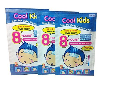2 Boxes of Cool Kids Fever Patch (6 Patch Per Box) , Desired for Baby and Kids Age 15 Months up , for Instant Cooling Sensation up to 8 Hours Fever Relief