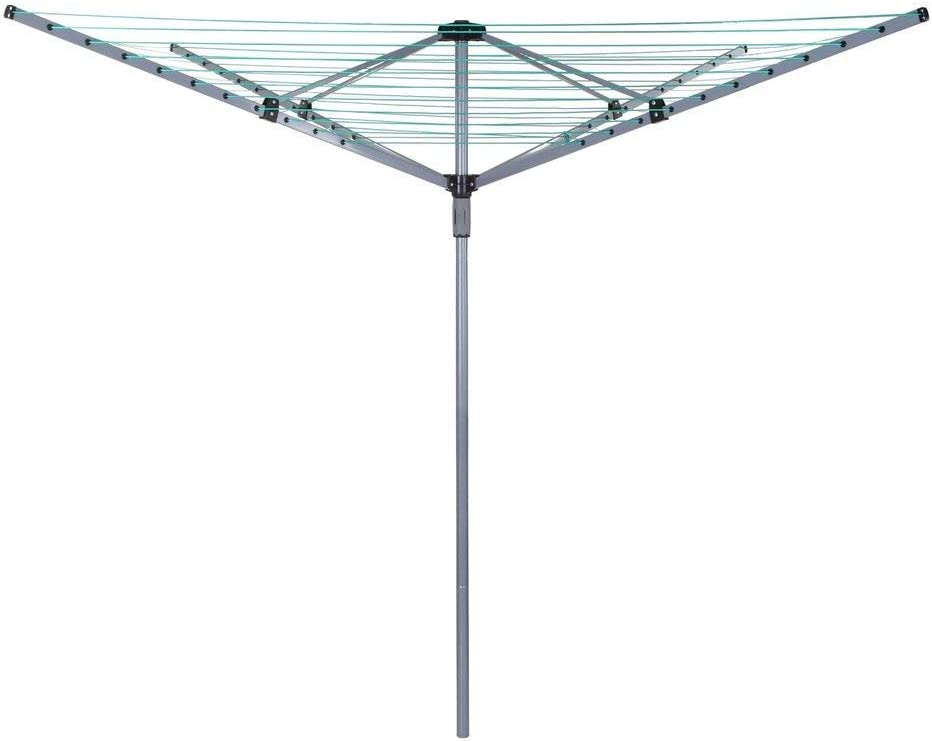 Trendi Outdoor Garden 4 Arm 50m folding Rotary Washing Line Whirly Clothes Airer Dryer Whirlygig with Free Ground Spike and Cover