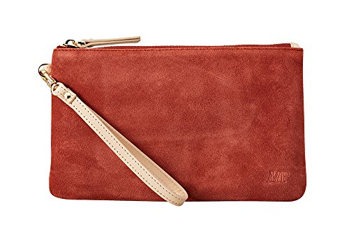 HButler 4000mAh Mighty Purse Suede Wristlet for Apple/Android Phones - Rust by HButler (Image #4)