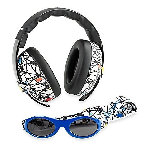 Baby Banz Earmuffs and Infant Hearing Protection and Sunglasses Combo 0-2 Years, - Rating Sunglasses Uv