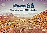 Nostalgie auf 2451 Meilen - Route 66 (Wandkalender 2020 DIN A2 quer): Route 66, endlos lange Straße von Chicago (Illinois) nach Santa Monica (Kalifornien). (Monatskalender, 14 Seiten )
