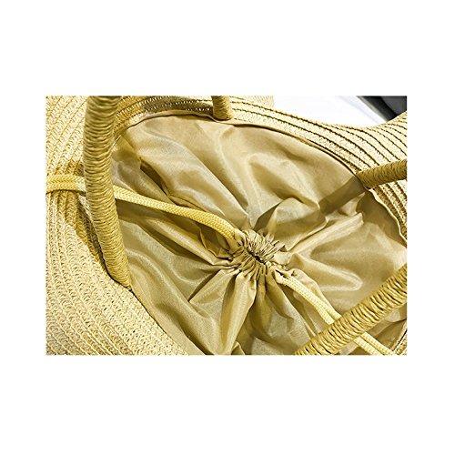 Lady Beige Main Portable De One Sac Sac Paille Occasionnels Sac à épaule Grande Vacances Capacité à D'été De Rotin Main rHrnwqF4