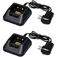 Yxisn5 Walkie Talkies Desktop Charger Compatible with Baofeng UV-5R UV-5RA UV-5RE UV-5RTP (2PACK)