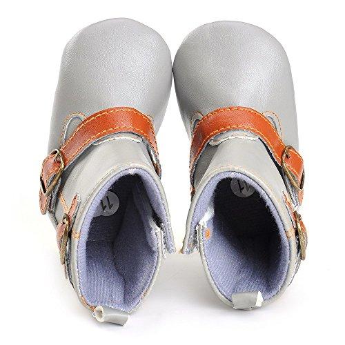 Estamico bebé niños de vaquero botas de sintética gris gris Talla:3-6 meses gris
