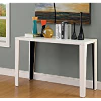Euro Modern White Gloss Lacquer Console Sofa Hallway Accent Table Includes Modhaus Living (TM) Pen