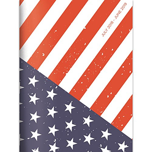 America Calendar - TF Publishing 19-4096A July 2018 - June 2019 America Monthly Planner, 7.5 x 10.25