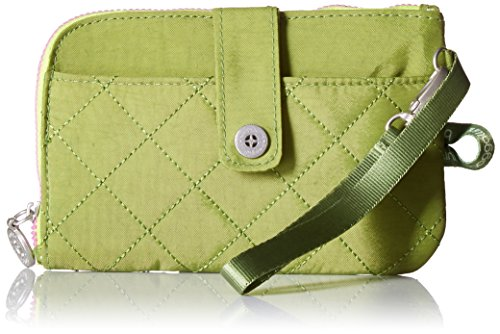 (Baggallini Women's RFID Passport & Phone Wristlet, green/kiwi, One Size)