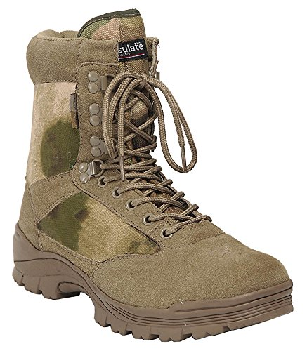 Mil-Tec Tactical Side Zip Botas Negro A-Tacs FG