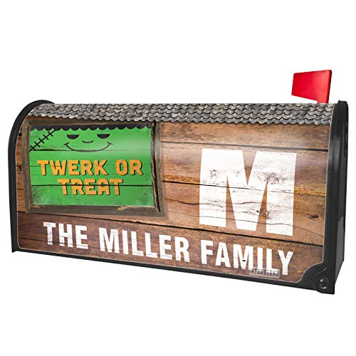 NEONBLOND Custom Mailbox Cover Twerk or Treat Halloween Frankenstein -