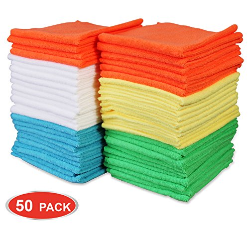 Cutting Abrasive Materials - Cartman Microfiber Cleaning Cloth 5 Colors, 14