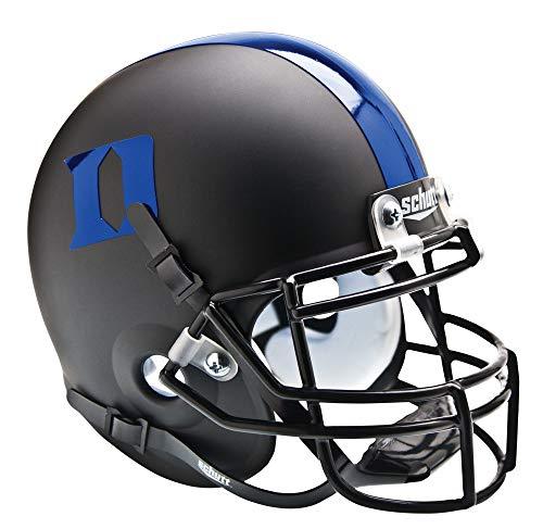 - NCAA Duke Blue Devils Collectible Alt 3 Mini Helmet, Matte Black Blue
