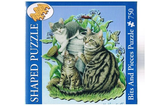 Kathy Goff: Maggie and Kittens 750 Piece Shaped Jigsaw Puzzle