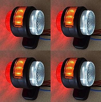 30 Stück 6 LED 24v LKW Rot Weiß Orange Anhänger LKW Anhänger 6 Seite Neu Lorry
