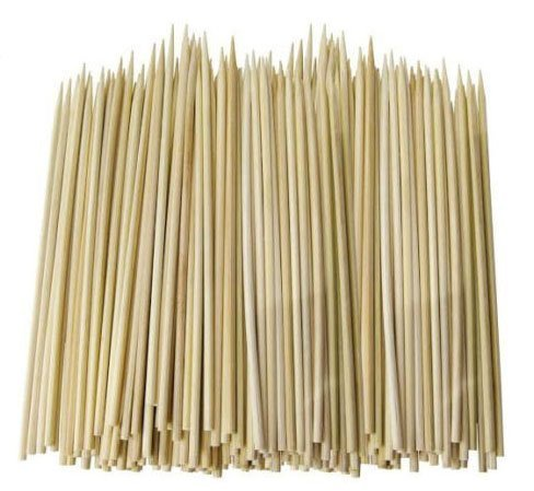 100 VALUE PACK BAMBOO SKEWERS WOODEN FOR BBQ FOOD PARTY CHOCOLATE FOUNTAINS (25cm) REDSTAR