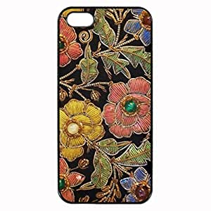 Colorful Glass Beads Vintage Floral Design Printed Plastic Rubber Sillicone Customized iPhone 5 Case, iPhone 5S Case Cover, Protection Quique Cover, Perfect fit, Show your own personalized phone Case for iphone 5 & iphone 5S by ruishername