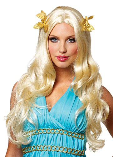 - Costume Culture Women's Goddess Wig with Wreath Deluxe, Blonde, One Size