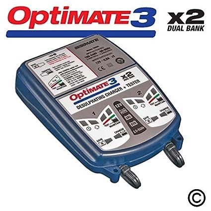 Optimate 3 x 2 Dual Bank 12 V Cargador de batería automático ...